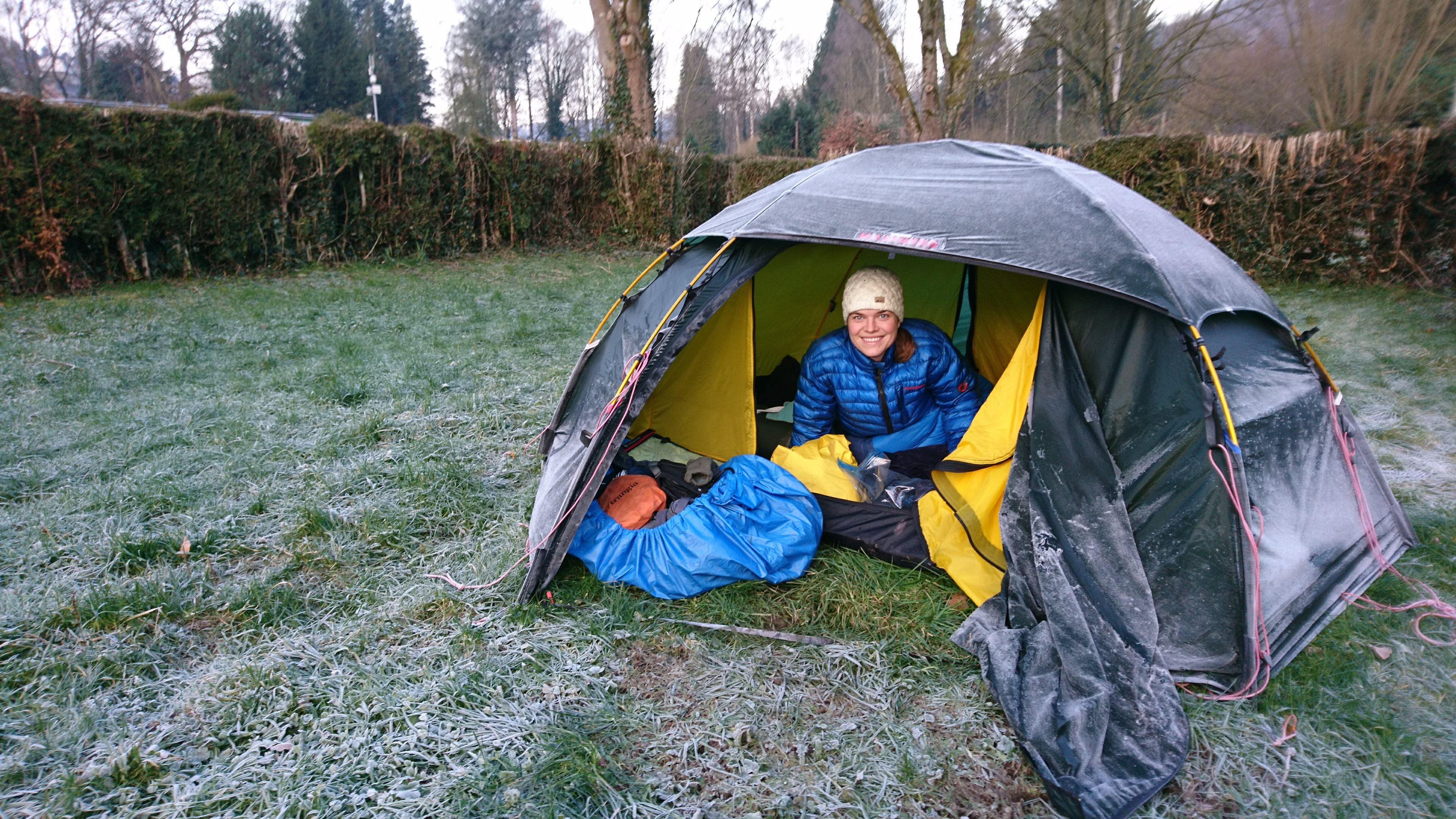 in de winter kamperen in een tent?