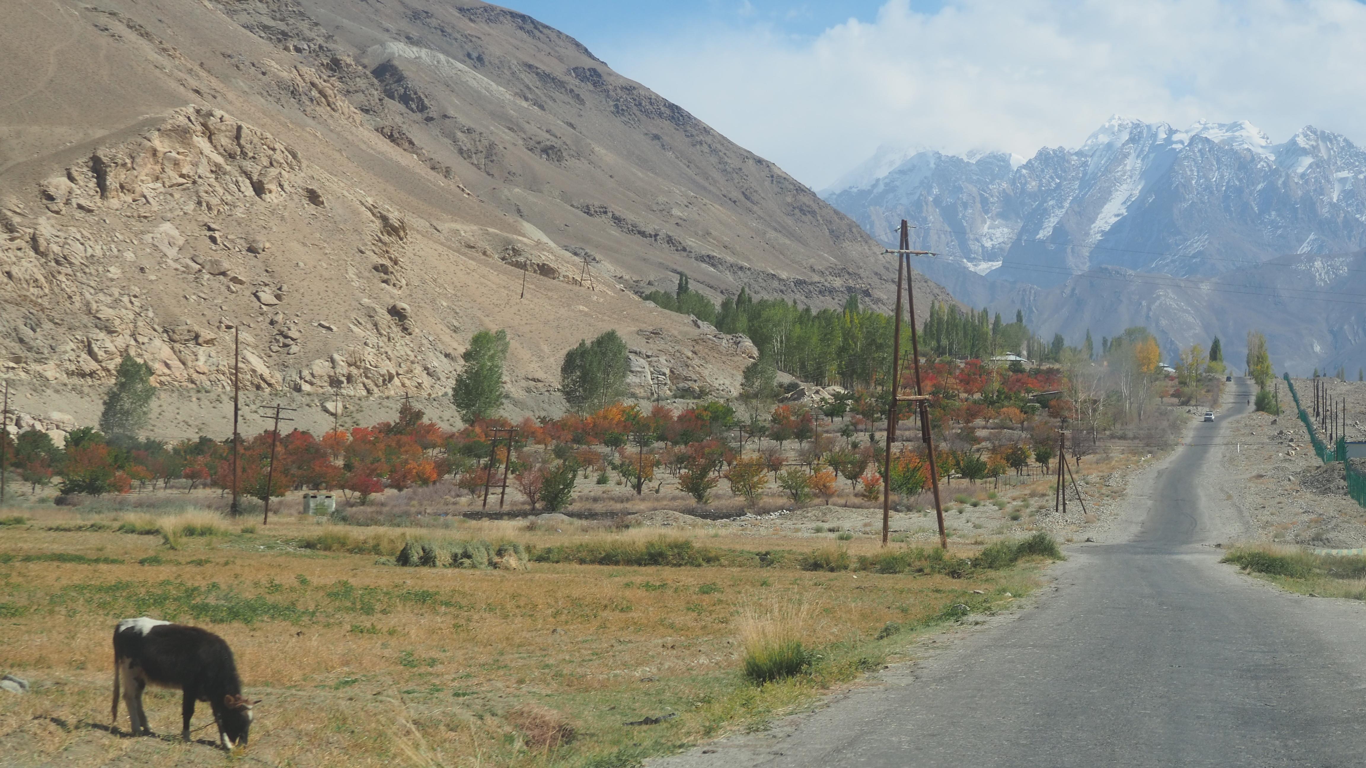 De mooie valleien en hoge bergpassen van de Pamir Highway